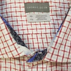 Thomas Dean Long Sleeve Check Dress Shirt